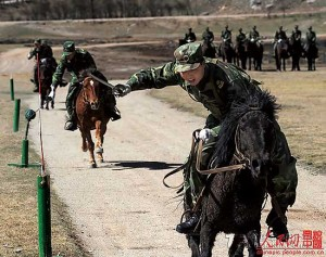 In the era of stealth fighters and cruise missiles, Chinese cavalries still drill traditional military subjects.