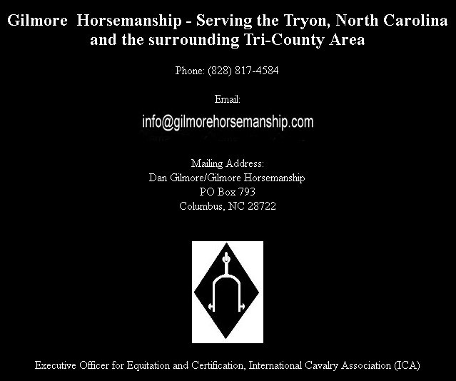 Contact Information - Gilmore Horsemanship